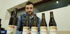Nouveau venu dans le paysage microbrassicole de Thur et Doller, Vincent Throo, présente la bière de Noël Granica qu'il brasse à Michelbach, entre Thann et Masevaux.