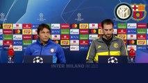 INTER vs BARCELLONA- PRE CONFERENZA di ANTONIO CONTE con DIEGO GODIN _ INTEGRALE