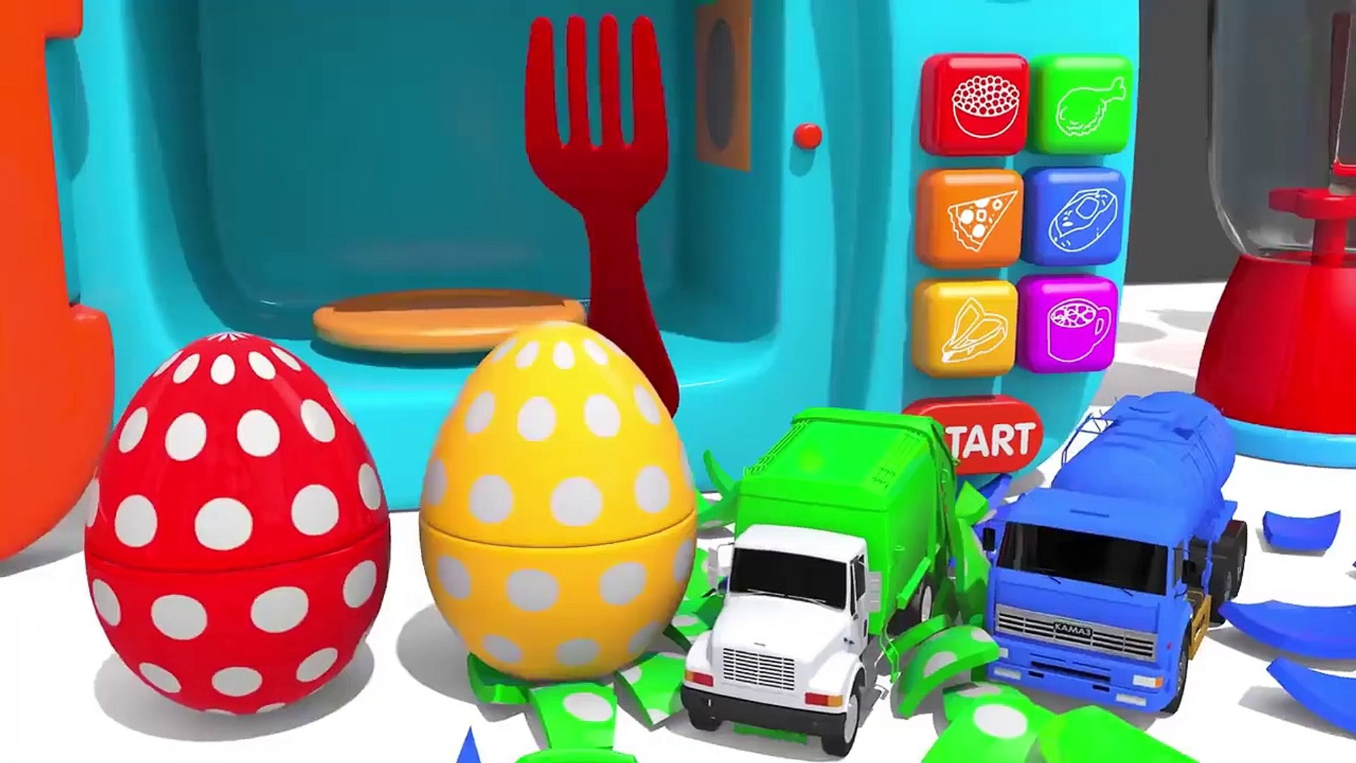 Learn Colors With Bunny Mold And Microwave Toy Street Vehicle Finger Family Song For Kids Children Video Dailymotion