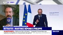 """Retraites: pour Philippe Martinez, le système proposé par le gouvernement, """"c'est sacrifier la jeunesse"""""""