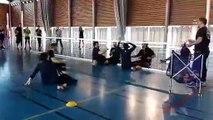 Démonstration volley assis  en présence de joueurs de l'équipe de France de Volley assis (Sandrine Barde, Jocelyn Truchet, Damien Roger et Pierre Armand