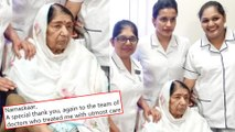 Lata Mangeshkar Returns Home After 28 Days From Bridge Candy, Thanks Fans And Doctors