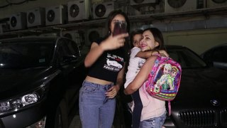 Ananya Pandey - all kids get scared of me - spotted at a cinema hall with family