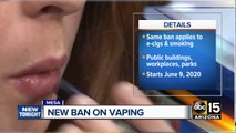 Mesa council adds vaping to citywide no-smoking regulations