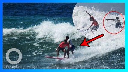 Relakan emas, surfer Filipina selamatkan surfer Indonesia di SEA Games 2019 - TomoNews