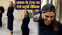 Chhapaak trailer launch: Deepika Padukone arrives this look at launch | FilmiBeat