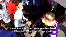 Young magician's mind-twisting tricks bewitch Nigerians