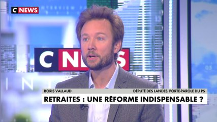 Boris Vallaud - CNews mardi 10 décembre 2019