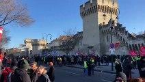 Mobilisation contre la réforme des retraites : le cortège s'apprête à s'élancer à Avignon