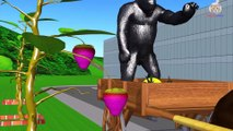 Learn Colors Wild Animals Growing Fruit Trees with Farm Animals Cartoon for Children