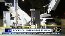 Gas station roof collapses on cars during Valley storm