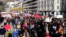 Grève du 10 décembre contre la réforme des retraites : départ de la manifestation à Grenoble