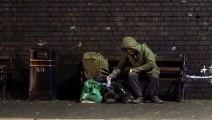 Nouvelle peinture de Banksy sur un mur à Birmingham (Angleterre)
