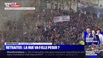 Grève contre la réforme des retraites: le cortège parisien arrive place Denfert-Rochereau
