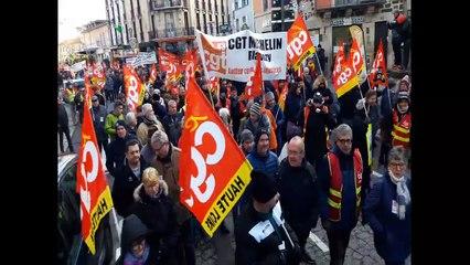 Manifestation contre les retraites du 10 décembre au Puy-en-Velay