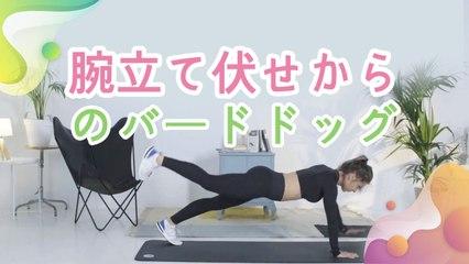 腕立て伏せからのバードドッグ - Minna Kenko