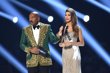 Steve Harvey Is Getting Dragged For His Joke About Miss Colombia