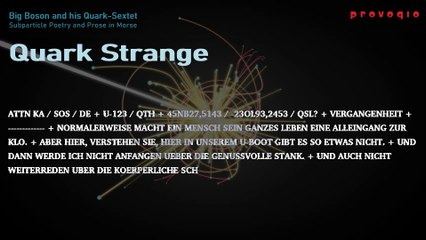 Big Boson and his Quark-Sextet - Quark Strange (2019) subtitled