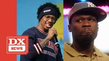 """50 Cent Warns Nick Cannon Over Eminem Diss- """"I Oughta Kick You In Your A**"""""""