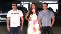 Salman khan's DABANGG ENTRY With Saiee & Arbaaz Khan at Mehboob Studio Dabangg 3 Promotion