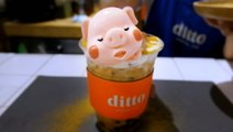A bubble-tea shop in Bangkok tops its drinks with animal-shaped marshmallows