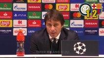 INTER-BARCELLONA 1-2 _ ANTONIO CONTE IN CONFERENZA STAMPA