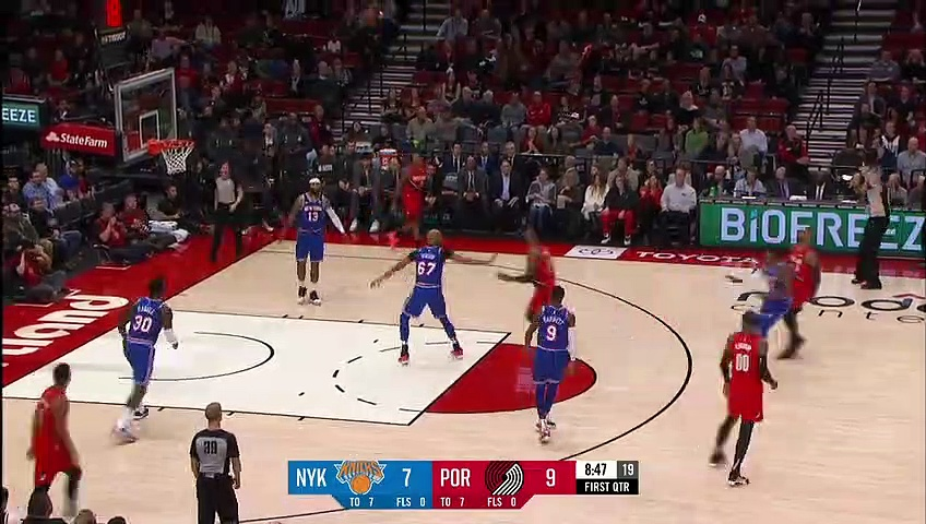 New York Knicks 87 - 115 Portland Trail Blazers