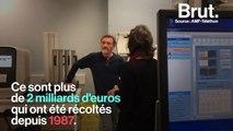 Visite des laboratoires du Généthon avec Jean-Paul Rouve, parrain du Téléthon 2019