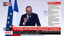 """Édouard Philippe: """"La valeur du point sera fixée par les partenaires sociaux et ne baissera jamais"""" - """"Les personnes nées avant 1975 ne sont pas concernées par ce système"""""""