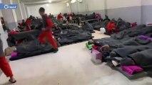 أجساد هزيلة.. شاهد كيف بدا سجناء داعش في الحسكة