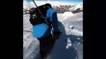 Il transforme sa grosse chute en ski à réussite totale... La classe