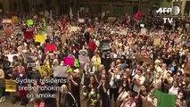 Sydney bushfire climate protest