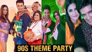 Katrina Kaif, SRK, Sidharth,Karan Johar, Janhvi Kapoor 90's Bollywood Theme Party | INSIDE Pictures