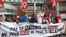 Jeudi 12 décembre 2019, 200 manifestants à Lisieux