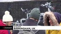 Avec sa nouvelle fresque, Banksy dénonce  les conditions de vie des sans-abri