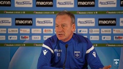 La conférence de presse de Jean-Marc Furlan avant Lorient-AJA