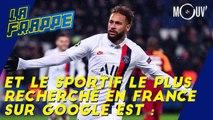 Le sportif le plus recherché en France sur Google est...