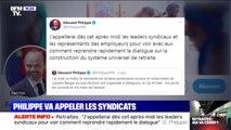 """Retraite: Edouard Philippe va appeler les syndicats """"pour voir comment reprendre rapidement le dialogue"""""""
