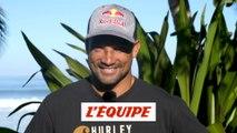 la réaction de Michel Bourez à l'annonce du surf à Tahiti aux JO 2024 - Adrénaline - Surf