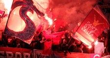 Basel-Trabzonspor maçında YPG paçavrası açıldı, ortalık karıştı!
