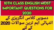 10th Class English Important Guess Papers 2020 || 10th Class English Important Questions 2020