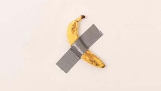 Celebrities and companies mimic the banana sticked to the wall