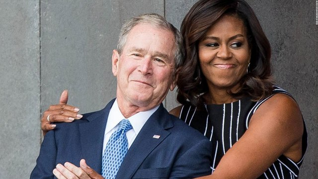 Michelle Obama talks about her friendship with George W. Bush
