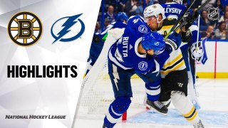 Tampa Bay Lightning vs. Boston Bruins - Game Highlights