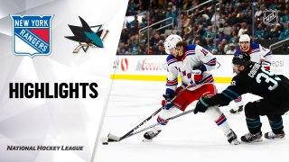 San Jose Sharks vs. New York Rangers - Game Highlights