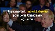 Royaume-Uni : majorité absolue pour Boris Johnson aux législatives