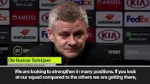 """""""Man United still need two or three players"""" Solskjaer"""