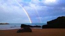 Beautiful Rainbow   Hermoso Arcoíris doble en la playa de Candás, Asturias