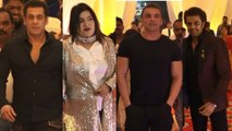Salman Khan, Sohail Khan, Maniesh Paul,Jay Bhanushali at makeup man Raju Nag's Son Wedding Reception