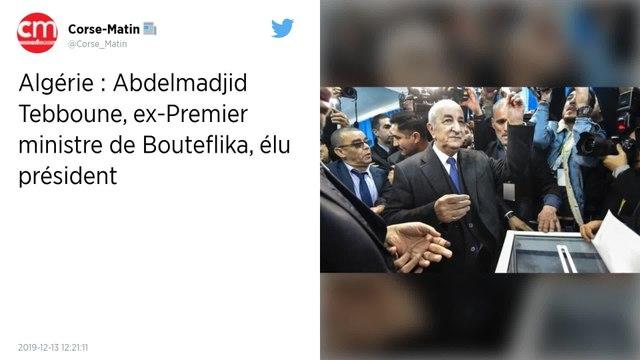 Élections en Algérie. Abdelmadjid Tebboune, ex-Premier ministre de Bouteflika, élu président